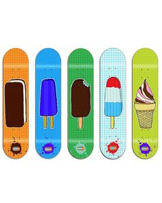 5 ice cream skateboards
