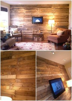 15 Creatively Genius Diy Wood Walls Concept Of Wooden Work On Wall. Wood Plank Walls, Wood Planks, Pallet Walls, Cafe Interior, Interior Exterior, My Living Room, Living Room Decor, Diy Wood Wall, Pallet Furniture
