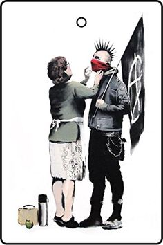 BANKSY ANARCHIST AND MOTHER CAR AIR FRESHENER >>> See this great product.