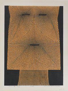 Tomio Kinoshita, Face, woodcut
