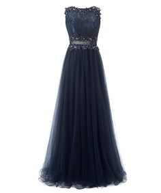 Callmelady Tulle Prom Dresses Long Evening Dress For Women Appliqued (Navy Blue, US26W). This gorgeous tulle dress features lace appliques & front sheer waist style. Suitable as 2017 prom dresses, evening gowns, formal dresses, pageant dresses, party dresses & dresses for other special occasions. Please refer to our own US size chart from product images or message us your custom size including bust, waist, hips, hollow to floor & height after you place the order within 2 hours. The…