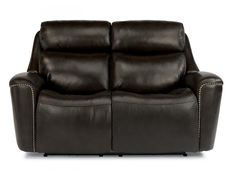 Flexsteel Leather Power Reclining Loveseat With Power Headrests 1471-60PH
