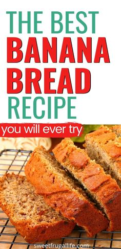 Easy snack ideas to make at home. Easy baking recipes to try. Banana bread recipe. Easy bread recipes to make at home. Easy after school snack ideas. Quick recipes to make at home. Easy banana recipes. Best homemade banana bread recipe. How to make banana bread from scratch. Famous Banana Bread Recipe, Homemade Banana Bread, Make Banana Bread, Banana Bread Recipes, Frugal Meals, Cheap Meals, Cheap Recipes, Frugal Recipes, Frugal Tips