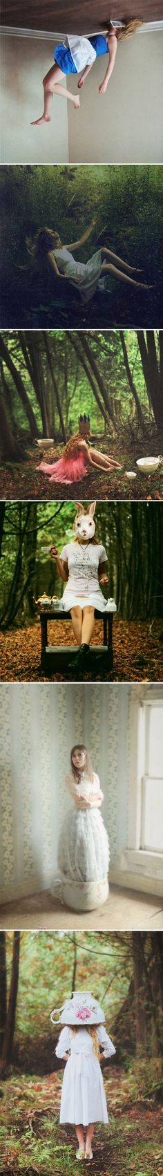Let's Play Pretend is the title of this Alice in Wonderland inspired photographic series, by Canadian artist Lissy Laricchia.