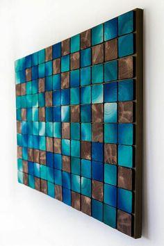Sky Windowst - Home Decoraiton Wood Mosaic, Mosaic Art, Wooden Wall Art, Diy Wall Art, Reclaimed Wood Art, Pallet Art, Artwork Design, Wood Paneling, Wood Walls