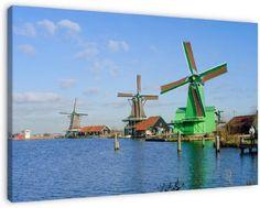 "Windmills at the ""Zaanse Schans"" Zaandijk, Netherlands"