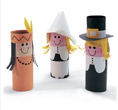 Toilet paper roll craft pilgrim people
