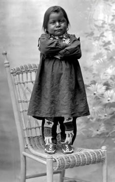 Delightful photograph of Ute boy Capitanito, son of Chief Severo. Photographed 1894.