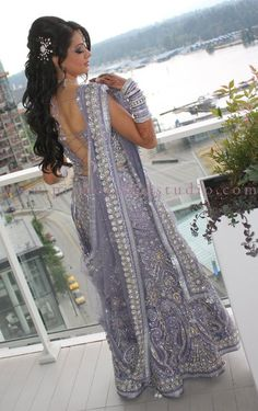 Lilac- so pretty! for more, follow my Indian Fashion boards!