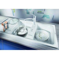 CHIUVETA DE BUCATARIE BLANCO SONA 8 S SILGRANIT GRI PERLAT REVERSIBILA INCORPORABILA - Iak Washing Machine, Home Appliances, House Appliances, Appliances