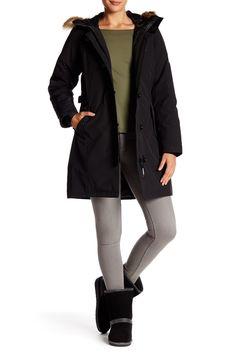 Monique Heavy Twill Jacket With Faux Fur Trim