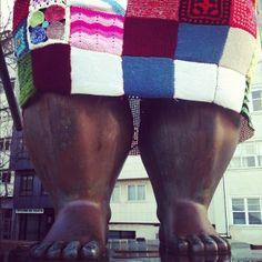 Big Feet Yarn Bomb