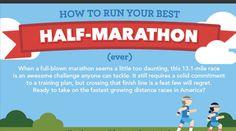 Halve marathon infographic! Denk voeding, training, blessurepreventie, motivatie en gear. The whole shebang én op een super coole manier geïllustreerd!
