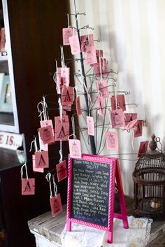 Flower seed tags for favors; celebrate new life by creating more!