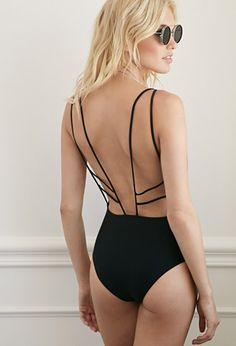 Strappy Open-Back One-Piece   Forever 21