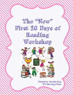 This resource is the complete first twenty days and is meant for the junior and intermediate classes. Part Fountas and Pinnell, part collaboration, this resource will help you take your students on the next step, beyond the primary level reading workshop. First 20 Days, 10 Days, Classroom Tools, Classroom Organization, Middle School Teachers, Elementary Teacher, Reading Response Journals, Get To Know You Activities, 6th Grade Reading