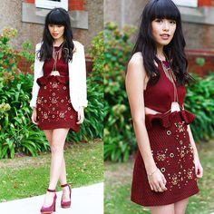 Three Floor Dress, Sam Edelman Shoes, Vanessa Mooney Necklace