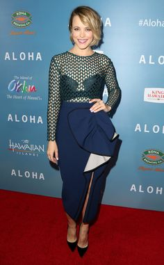 Rachel McAdams from The Best of the Red Carpet  In Self-Portrait, Ms. McAdams adds just a pinch of edgy elegance to the Aloha red carpet.