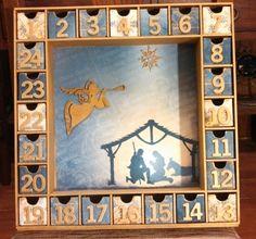 Nativity Scene Advent Calendar by SmartArtbySusie on Etsy, $59.95