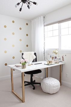 Gold and Girly Home Office | Flickr - Photo Sharing!