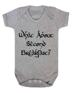 What About Second Breakfast? Funny Hobbit Quote Parody Baby Onesie