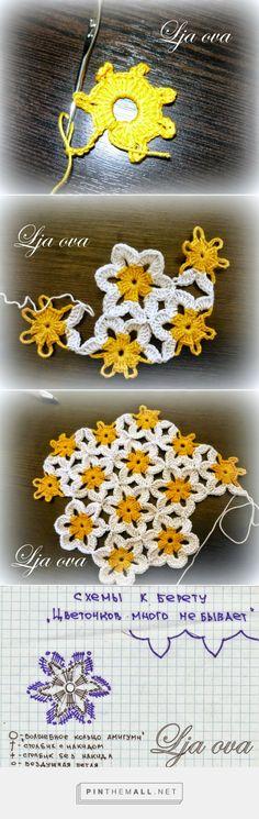 Manzanillas al crochet en 2 versiones - diagramas y paso a paso | Crochet y Dos agujas - created via http://pinthemall.net