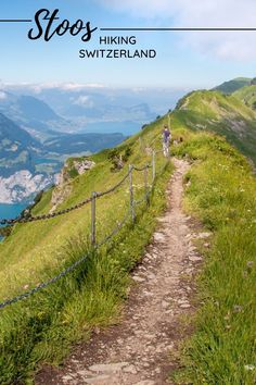 This 'bucket list' ridge hike at Stoos near Lucerne Switzerland has panorama views of mountains, lakes and alpine meadows. Plus you get to ride the steepest funicular in the world and there's a playground at the top with epic views over the cliffs. This well built trail is suitable for casual hikers and families with experience hiking. Trail map and details on our website. Best Of Switzerland, Lucerne Switzerland, Hiking Europe, Alpine Meadow, Hiking With Kids, Trail Maps, Zermatt, Best Hikes, Hiking Trails