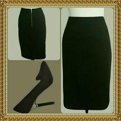 Serena Williams Black Skirt w gold Zipper