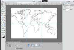 World map broken into square quadrants using photoshop Antique World Map, World Map Wall Art, Craft Fairs, Homemade Gifts, Projects To Try, Creative, Photoshop, Crafts, Diy