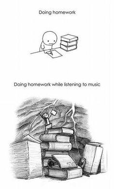 homework+music