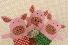 3 Little Pigs  Who doesn't like the tale of the 3 little pigs and the big bad wolf . When I saw this pattern for the finger p...