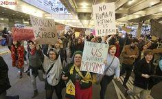 Protestos nos aeroportos aumentam pressão contra Donald Trump