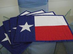 Quilted Lone Star Placemats Set of 4 by MurphysHouse on Etsy https://www.etsy.com/listing/76550476/quilted-lone-star-placemats-set-of-4