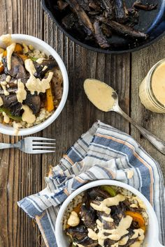 Portobello Philly Cheese Steak Bowl  |  Keepin' It Kind