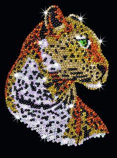 Hobbies | Sequin Art Leopard Craft Kit | Hobbies