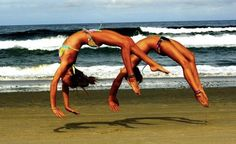tumbling at the beach