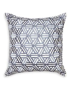 Interlocking Satin-Stitch Pillow by Jonathan Adler at Neiman Marcus.