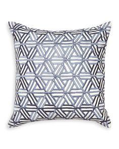 Interlocking Satin-Stitch Pillow by Jonathan Adler at Horchow.