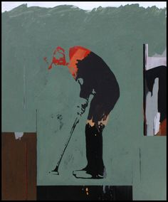"Saatchi Online Artist: Hugo Santos; Acrylic, 2004, Painting ""Golf Abstraction"" #golf"