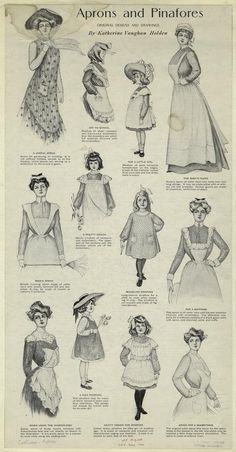 1901 Aprons And Pinafores. From New York Public Library Digital Collections.
