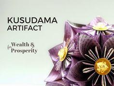 Paper Spirals: Blooming Abundance. A Kusudama Artifact.