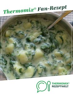 Cream potatoes with spinach from Thermomix Recipe Development. A Thermomix ® rec . - Cream potatoes with spinach from Thermomix Recipe Development. A Thermomix ® recipe from the main - Easy Healthy Recipes, Crockpot Recipes, Healthy Snacks, Easy Meals, Seafood Recipes, Mexican Food Recipes, Snack Recipes, Creamed Potatoes, Salad Ingredients