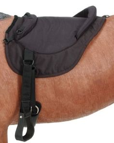 Tough-1 Premium Bareback Pad by JT. $69.90. Strong dees for hanging saddle bags and water bottles. Fully adjustable western style plastic stirrups. Western rigged, just add a cinch. Fleece lined bottom. This quality bareback pad is constructed of a tough 600 denier Nylon outer shell with padded seat and raised padded pommel and cantle. Bareback pads are great because they are lightweight and bring you closer to your horse.