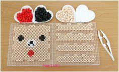 Korilakkuma box perler beads by Peggy Wu