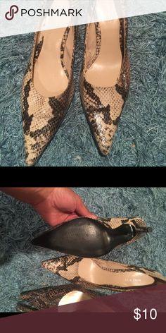 Nine West leather heels Gently worn in good shape Nine West Shoes Heels