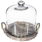 Willow Cake Plate with Handles & Glass Lid