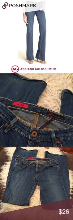 AG Adriano Goldschmeid The Club Flare Jeans AG Adriano Goldschmeid The Club Flare Jeans. 8.25 inch rise, mid rise. 33.5 inch inseam. Size 30 which is a 10. Gently worn. Good condition. Feel free to make an offer or bundle & save! AG Adriano Goldschmied Jeans Flare & Wide Leg