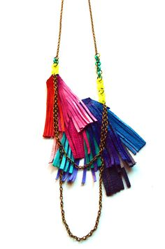 leather fringey - the colours!