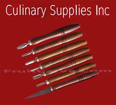 Thai Soap Carving Tools, 7 pc :Culinary Supplies Inc.-USA importer and specializing in carving knives garnish tools books and more. Find online at CulinarySupplies.Org or FruitCarve.Com
