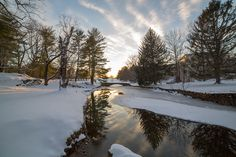 Winter at Airlie; Airlie stone bridge; Virginia snow {Photo Credit: Edward Payne}
